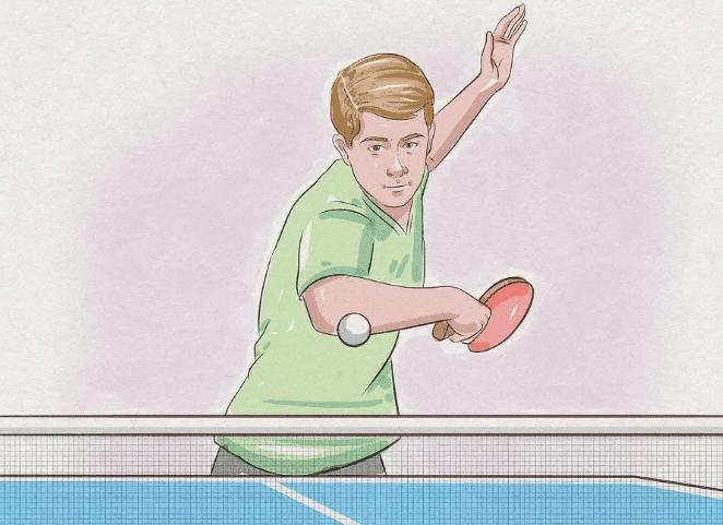 Tenis Meja Ping Pong Cara Melakukan Pukulan Chop Permainan Tenis Meja Pingpong Penjaskes Co Id